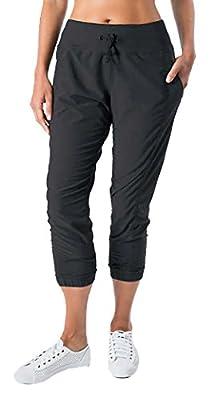Kirkland Signature Ladies/ Women's Active Crop Pant - Lightweight Jogger Yoga Running Every Day Wear Pants