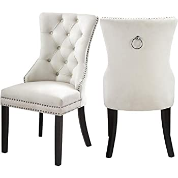 Amazon Com Dining Chairs Set Of 2 Upholstered Accent