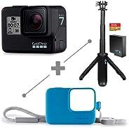 GoPro Bundle Hero 7 Black+Shorty+batería recargable+Memoria de 32+ Sleeve And Lanyard  (Azul) .