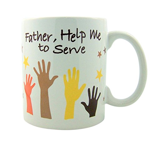 Father, Help Me to Serve Ceramic Coffee Mug, 10 Ounce by Religious Coffee Cups