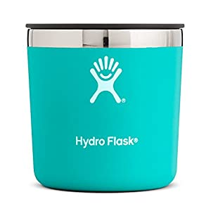 Hydro Flask 10 oz Double Wall Vacuum Insulated Stainless Steel Whiskey Rocks Glass with BPA Free Press-In Lid, Mint