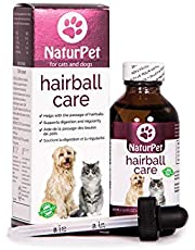 NaturPet Hairball Care   Natural Herbal Drops to Support Digestion, Hairballs, Gas, Bloating   Cats & Dogs   100mL