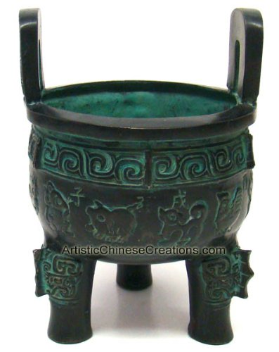 - Chinese Bronze & Brass Ware: Chinese Incense Burner Chinese Brass Vessel / Ding - 12 Chinese Zodiac Symbols