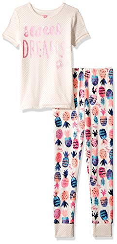 (Betsey Johnson Girls' Big 2 Piece Cotton Pajama Set, Sweet Dreams, 12 )