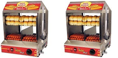 Paragon 8020 Hot Dog Hut Steamer Merchandiser for Professional Concessionaires Requiring Commercial Quality & Construction (2-(Pack))