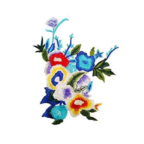 Vi.yo フラワーワッペン アップリケ 刺繍 おしゃれな花 女の子 衣類装飾 アクセサリーの商品画像