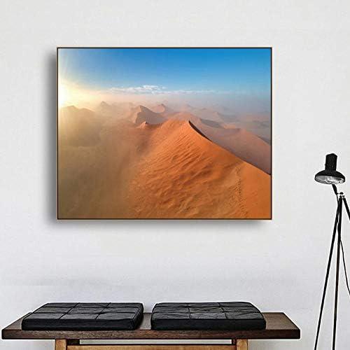 熱帯の風景ポスターと版画キャンバス絵画、書道砂漠の壁アートワーク写真リビングルーム家の装飾90×72センチメートル枠なし