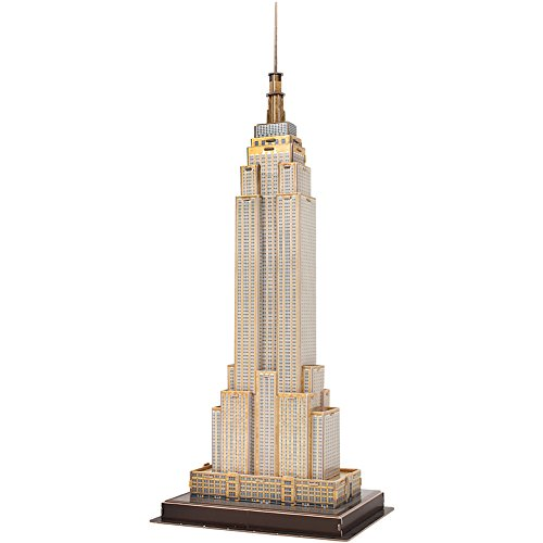 CubicFun Mini Architectural NY Model Craft Kits&3D Puzzle Toys,Empire State Building 27 Pieces C246h