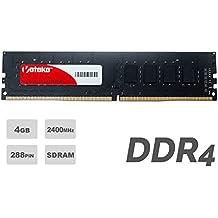 Veteke Performance RAM 4GB DDR4 2400MHZ PC4-19200 CL15 288-PIN DIMM | Memória para Desktops | Execute vários programas ao mesmo tempo & Aumente o desempenho