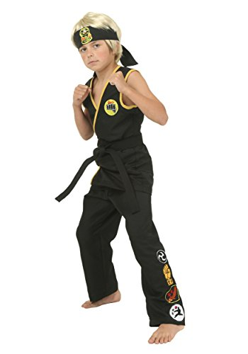 Child Cobra Kai Costume Medium (Karate Kid Costume)