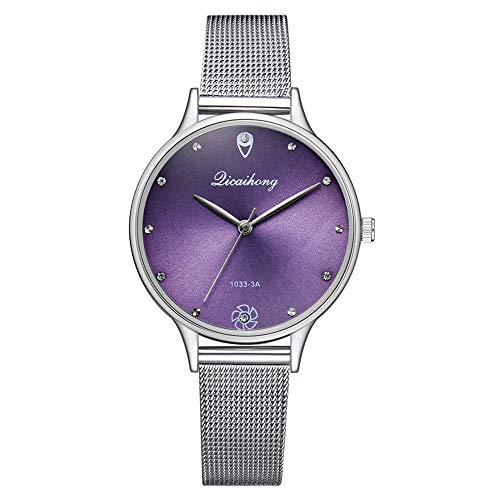 Women Quartz Watches,Fudule Wristwatch Analog Watches for Women with Stainless Steel Band Fashion Ladies Dress Watch Clearance Drive Womens Bangle Style Watch