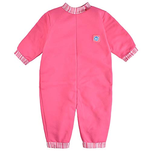 Splash About Warm in One Baby Wetsuit (X Large (12-24 Months), Pink Candy Stripe)