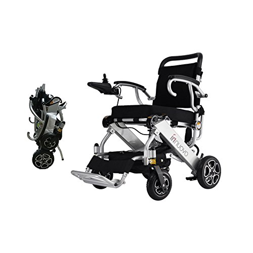 c Wheelchair-Lightweight 50 lbs Heavy Duty Supports 330 lbs Aluminum Alloy Frame Foldable Wheelchair Electric Power Propelled Portable Lifetime Quality Insurance (Foldable Power Wheelchair)