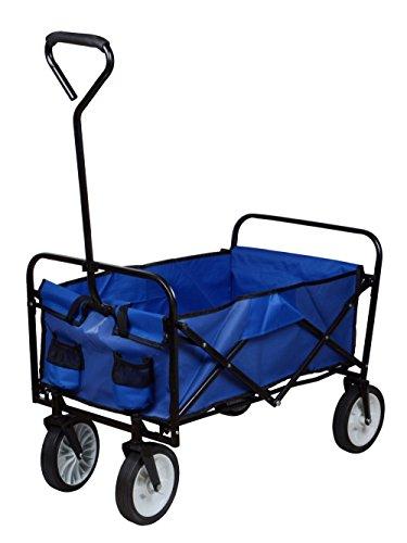 TMS Folding Collapsible Utility Wagon Garden Cart Shopping B