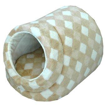 オーガニックコットン 犬用ベッド ダイア柄 ドーム型ドッグベッド Lサイズ appydog B003H13LIW