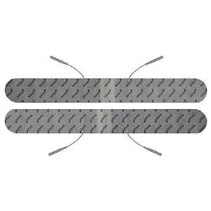Electrodos espalda conexión de clavija 2mm (330x40mm) Almohadillas para TENS EMS electroestimuladores conexión de clavija 2mm