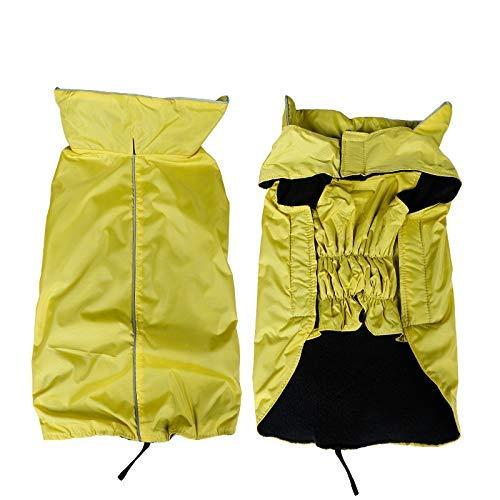 RSHSJCZZY Pet Windproof Waterproof Coats Reversible Reflective Soft Costumes Dog Raincoat]()