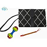 KEFA - Set Diaper Baby Changing pad Portable with Pacifier Chain and Rattle Toy Shake - Chic Portable Changing Station - Foldable - Kit Diaper Changing Mat - Diaper Bags - Gift Idea - Premium Quality