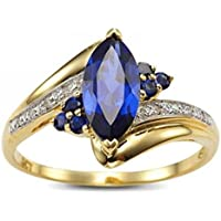 ERAWAN Womens Blue Sapphire Gold Filled Engagement Wedding Rings Jewelry Size 6-9 EW sakcharn (8)