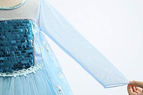 BIBIHOU Princess Dress for Girls Dress up Long Sleeve Halloween Christmas Party Cosplay Fancy Costume