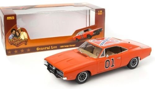 18 1969 Dodge Charger - <p><b>AUTO WORLD 1:18 Diecast Car Dukes of Hazzard 1969 DODGE CHARGER GENERAL LEE</b><br> <br> * </p> <p>Description : <br> <br> * Manufacturer :Auto World <br> * Model : 1969 DODGE CHARGER GENERAL LEE <br> * Color :Orange <br> * Scale : 1:18 <br> * Opening :Hood , Doors , Engine Cover <br> * Material :Diecast metal with some plastic parts <br> </p>