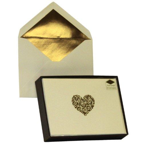 Designer Greetings Monogram Boxed Note Cards - Hearts (622-00156-000)