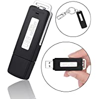 Arssilee Digital Audio Voice Recorder USB Pen Drive 96 Hours, Mini Voice Recorder, Lectures, Meetings, Interview, Speech Dictaphone. One Button Recording and Save Perfect(Black)