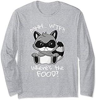 Where is the Food Raccoon SHIRT hungry Girlfriend Long Sleeve T-shirt   Size S - 5XL