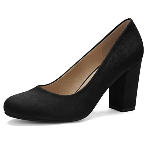 Allegra K Women's High Block Heel Classic Pumps