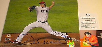(Derek Holland Texas Rangers Signed Autographed 8x10 2011 World Series A)