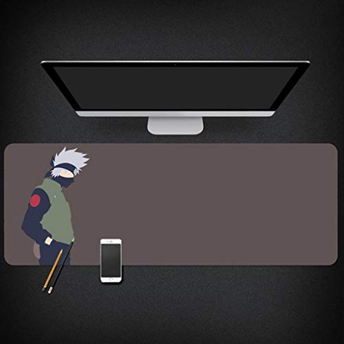 MXGMXG Gaming Mouse Pad Extended Desk Pad & Thick Large Computer Keyboard Mousepad Mouse Mat - Naruto Anime Design (Color : A, Size : 900mm×400mm) (Desk Mat Naruto)