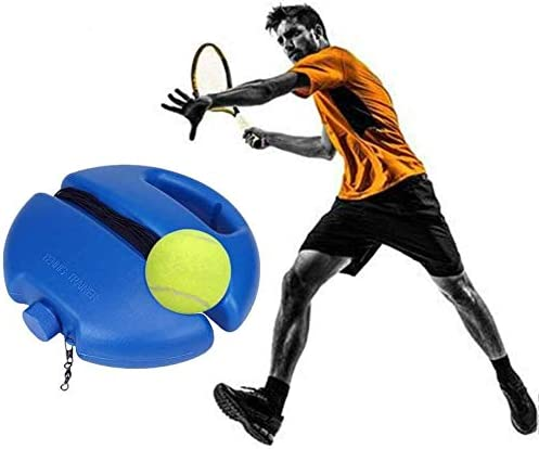 Haxiqiway Tennis Trainer Self-Study Tennis Rebound Power Base Tennis Trainer Tool with Tennis Ball