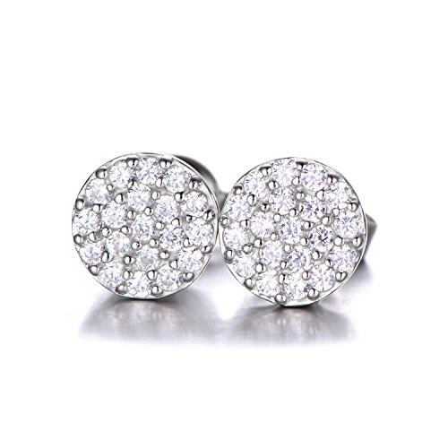 JewelryPalace 0,38ct Rondes Boucles d'Oreilles Goujon en Zircone Cubique en Argent sterling 925