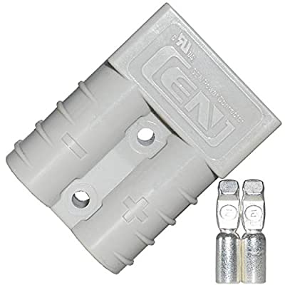 LIXIN 50A Battery Connect Quick Connector Plug,(2 Pack for Quick Connection and Disconnection of Winches and Electrical Equipment (Gray): Car Electronics