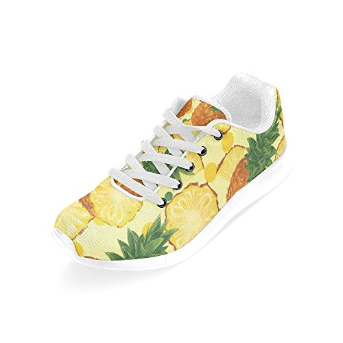 InterestPrint Womens Jogging Running Sneaker Lightweight Go Easy Walking Comfort Sports Athletic Shoes Yellow Pineapple WIDfq