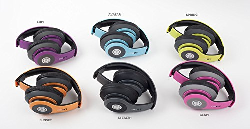 iJoy Matte Rechargeable Wireless Bluetooth Foldable Over Ear Headphones with Mic, EDM by iJoy (Image #7)