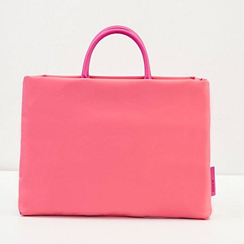JUSTYOU Klassischer Aktenkoffer der Geschäftshandtasche unisex 15-Zoll-Laptoptasche Tasche für zufällige Taschenholding Pink Trumpet