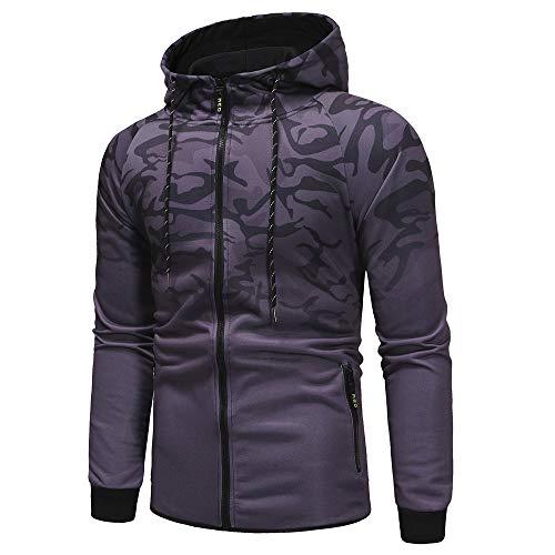 74260e823ebb8 Men's Sports Base Layers, Men's Autumn Winter Packwork Camouflage Slim Fit  Long Sleeve Hoodie Top Blouse(M, Dark Gray)
