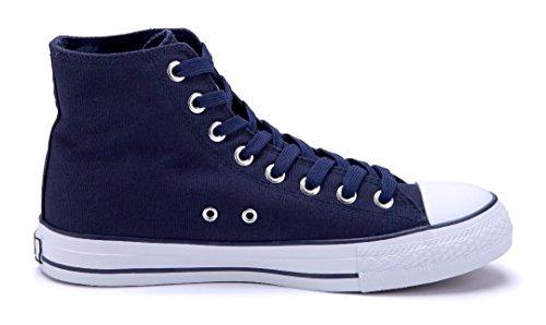 Schuhtempel24 Damen Schuhe High Sneaker Flach Blau