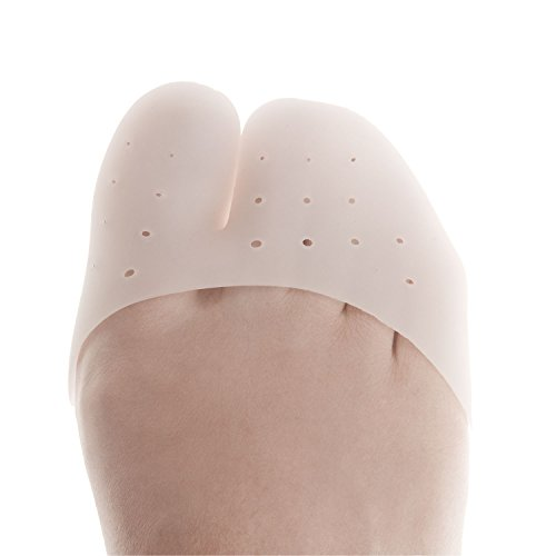 DJMed Gel Toe & Metatarsal Covers with Toe Separators - Ballet Pointe & Sport Shoe Pads Caps Prevent Calluses & Blisters - 2 Pairs, Set of 4