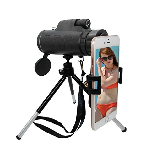 [Latest Upgraded] Jaylinna Generic HD 40x60 Smart Phone Telescope Sets Mobile Phone Lens Kits with Adapter and Tripod for Iphone Samsung HTC Huawei Sony and More (35x50) Latest Phones