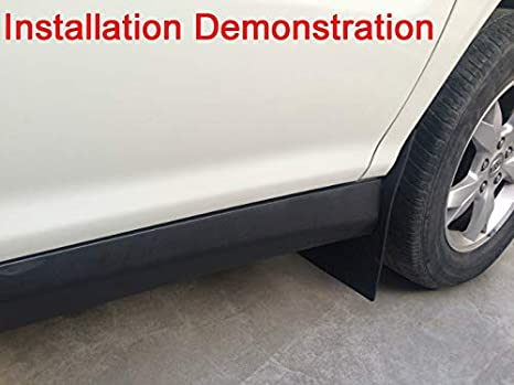 JYJIAJU Mud Flaps Auto Car Truck SUV Pickup Universal Wheel Mudguard Fender Board 1 Set=2pcs Color : Black Color