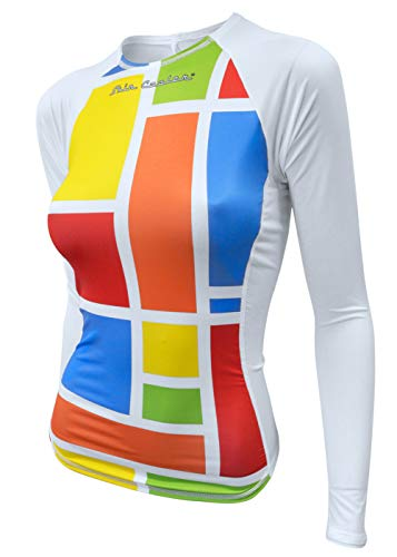 (De Soto Femme Skin Cooler Long Sleeve - WLSSC - 2019 (South Beach Mondrian, X-Large))