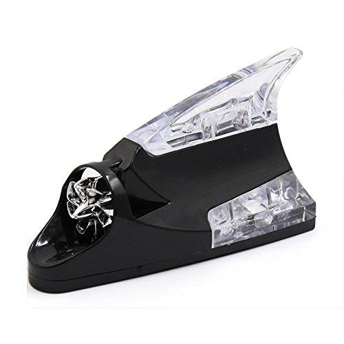 wuudi Auto LED Shark Fin Flash Strobe tail-light ACHTUNG Antenne Design ACHTUNG Lampen Taschenlampe Kunststoff Dekoration Ornament rot