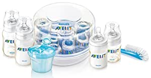 Philips AVENT BPA Free Essentials Gift Set with Sterilizer (Discontinued by Manufacturer)
