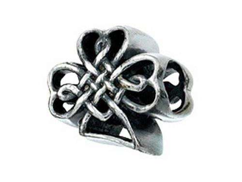 Zable Nœud celtique Shamrock Perle/Charm argent sterling