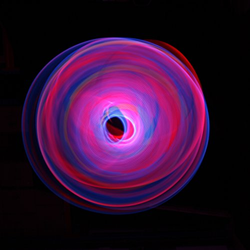 Flames N Games NEBULA Glow LED Hula Hoop Reifen mit 29 Helles Lila LEDs - Akku und Ladegerät Enthalten + Tasche! Helle Farbe LEDs Für Hoop Dance und Übung Für Alle Altersgruppen - 90cm! (Grün) Blau oOAZg
