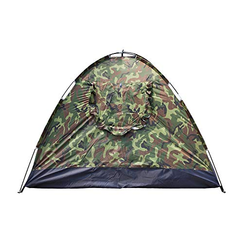 VKOSHA 3-4 Person Camping Dome Tent,Family Camping Tent, Waterproof Big Tent Outdoor Beach for Camping, Fishing, Picnic, Garden Pleasure-Camouflage