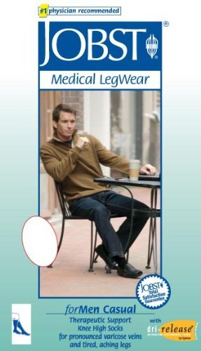 Men's 20-30 mmHg Firm Casual Knee High Support Sock Size: Large Full Calf, Co... - Buy Packs and SAVE (Pack of 2) by JOBST
