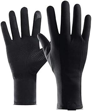 Bruce Dillon Pantalla táctil térmica Mujeres y Hombres Guantes cálidos de Bicicleta de Invierno Guantes deCiclismo con Dedos completos Guantes Largos a Prueba de Viento - Negro X XL X